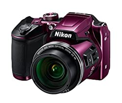 Nikon Coolpix Camera with 8GB SD Card + Camera Bag + HDMI cable (B500 ,Red)