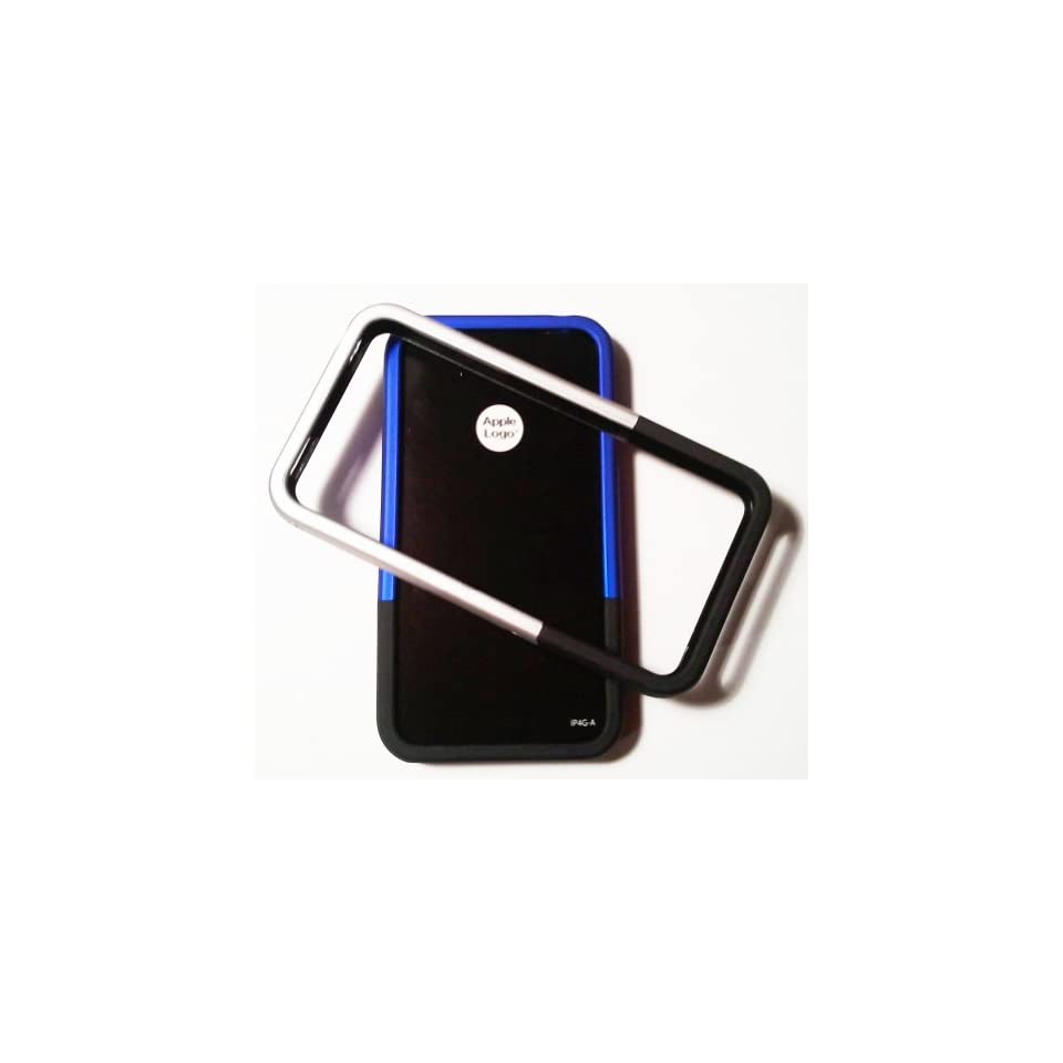 iFrogz Luxe Edge Bumper Cases for Apple iPhone 4 (2 Pack)   Blue/Black and Silver/Black