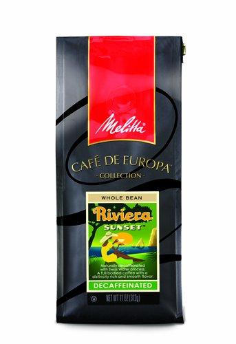 Melitta Caf? de Europa Gourmet Coffee, Riviera Sunset Decaffeinated Whole Bean, Medium Roast, 9 Ounce (Pack of 3)