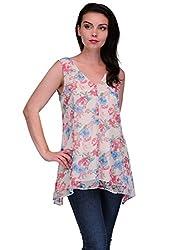 printed poly chiffon dress