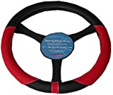 Toyota Celica Carina Leather Look Soft Grip Steering Wheel Glove Cover RED KA1325