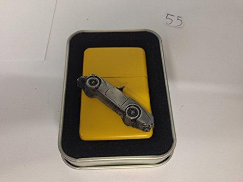 daimler-dart-sp250-3d-flip-top-petrol-lighter-windproof-yellow-refillable-ref55