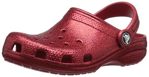 crocs Classic Sparkle Clog (Toddler/Little Kid), Pepper, 10/11 M US Little Kid