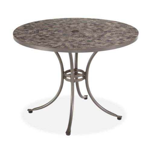Home Styles Glen Rock Marble Top Dining Table, Gray image