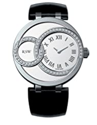 RSW Women's 6025.BS.L1.2.D1 Wonderland Round White Diamond Black Patent Leather Watch