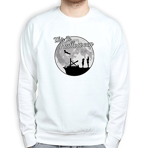 [Mens This is Halloween Addams Funny Scary Costume Sweatshirt 3XL White] (Lurch Costumes)