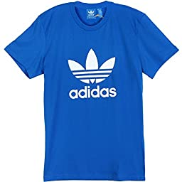 adidas Originals Men's Trefoil Tee, Large, Blue Birds