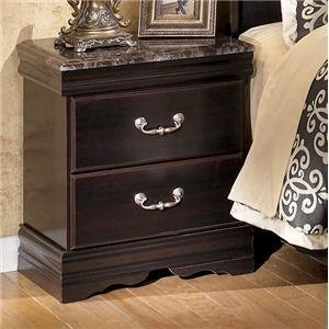 Dark Merlot Two Drawer Night Stand by Ashley Furniture