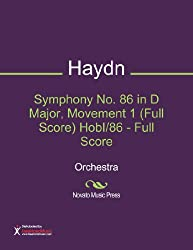 Symphony No. 86 in D Major, Movement 1 (Full Score) HobI/86 - Full Score Sheet Music (Orchestra)