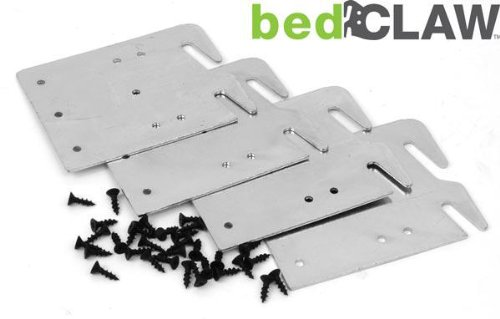Bedclaw retro hook plates for wooden bed rail restoration