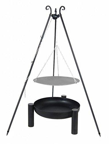 Belladecora® Lagerfeuer-Pfanne 56 cm im Set mit Feuerschale 60 cm und Dreibein 180 cm günstig bestellen
