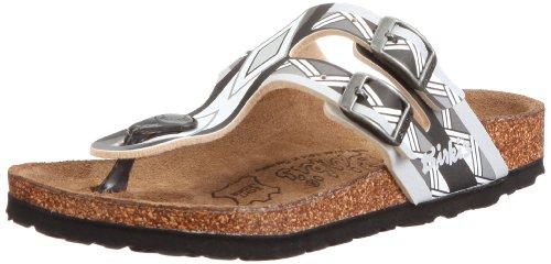 Birki Milos Sandals Unisex-Child Black Schwarz (AFRICAN LINES BLACK) Size: 32