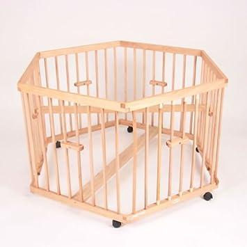 o0o parc hexagonal en bois tour de parc jaune. Black Bedroom Furniture Sets. Home Design Ideas