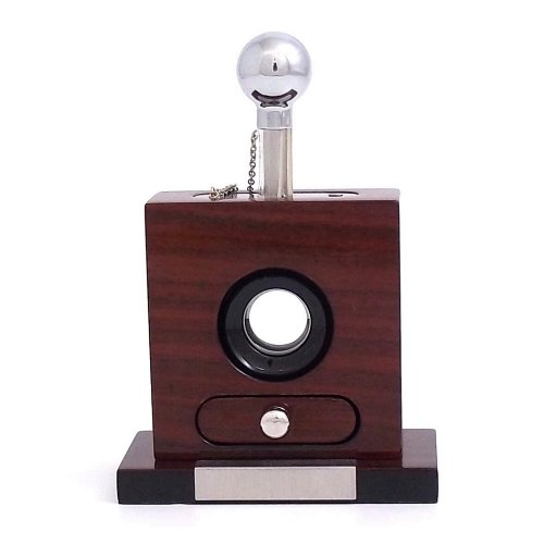 Table Top Cigar Cutter with Cutting Drawer Tarnish Proof