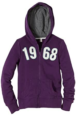 ESPRIT Pull À capuche Manches longues Fille - Violet - Violett (561 grape purple) - FR : 12 ans (Taille fabricant : 152/158)