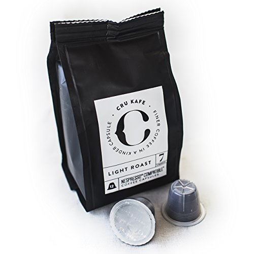 Nespresso Pods Sample Pack - Organic, Fairtrade Coffee - Compatible with Your Nespresso Machine - Winner of the Sunday Times Taste Test - Try the Full CRU Family: Dark Roast, Light Roast, Intense and Decaf, in this Great Value Sample Pack -100% Money Back