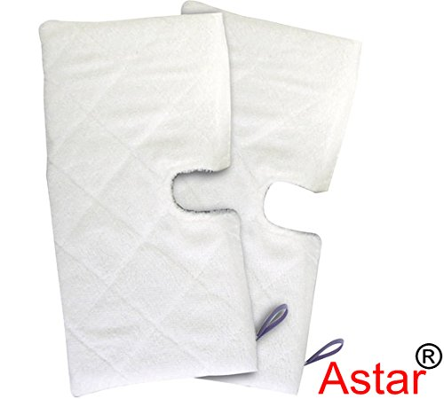 Astar 2 Pack Genuine Microfiber Cleaning Steam Pocket Mop XL Floor Replacement Pads for Shark XL T 3501 EXTRA LARGE (Set Of 2) (Large Steam Mop compare prices)