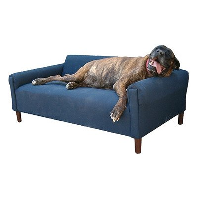 BioMedic Modern Pet Sofa Bed Fabric: Faux Leather - Charcoal, Size:
