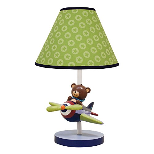 Lambs & Ivy Baby Aviator Lamp with Shade and Bulb