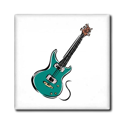Ct_164413_2 Susans Zoo Crew Music - Teal Electric Guitar Music Graphic - Tiles - 6 Inch Ceramic Tile