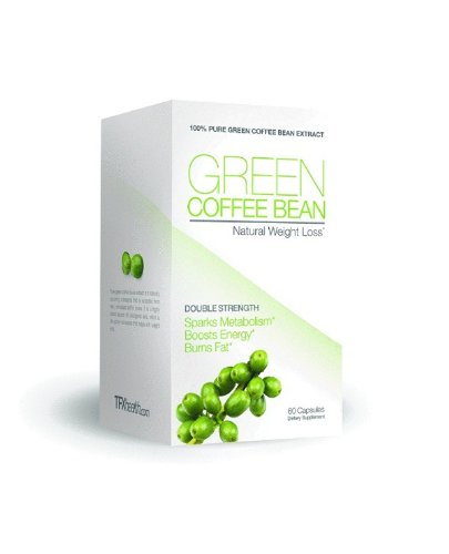Green Coffee Bean Extract 800mg, 60 Capsules , Double Strength, Natural Weight Loss, Source of 50% Chlorogenic Acid, 800mg Per Serving- TFX Green Coffee Bean Extract, 60c