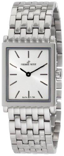 Pierre Petit Nizza P-790E - Reloj analógico de cuarzo para mujer, correa de acero inoxidable color plateado