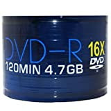 Aone DVD-R 16x Full-Face Inkjet Printable Discs - 4.7GB 120min - 50 Pack
