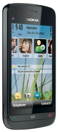 Nokia C5-03 Unlocked GSM Phone with 5 MP Camera and Ovi Maps Navigation Optimized for AT&T--U.S. Version with Warranty (Graphite Black)