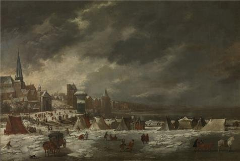 [The High Quality Polyster Canvas Of Oil Painting 'Jan Peeters I - The Frozen Schelde Of Antwerp, 1670' ,size: 30x45 Inch / 76x113 Cm ,this Best Price Art Decorative Prints On Canvas Is Fit For Gym Artwork And Home Artwork And] (Trailer Trash Outfits)