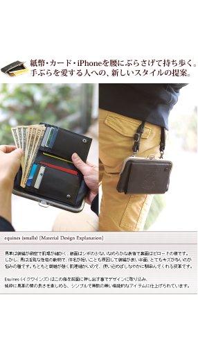 [コルボ] CORBO. equines(smalls)イクワインズ・スモール シリーズ iPhoneケース付き がま口 二つ折り財布 1LE-0309 ダークブラウン CO-1LE-0309-93