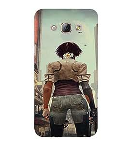 PrintVisa Fighter Girl Art 3D Hard Polycarbonate Designer Back Case Cover for Samsung Galaxy A8