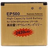2430mAh Haute Capacité d'or EP500 Batterie d'affaires pour Sony Ericsson Xperia U5i / U8i par Online-Entreprises