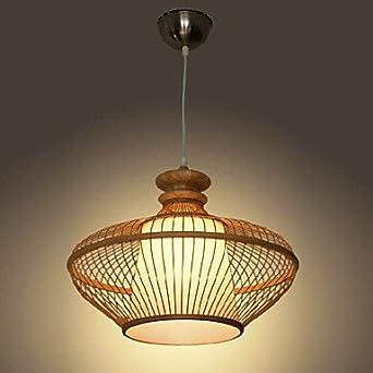 60w modern bamboo pendant light with 1 light simple design for Best modern lighting websites