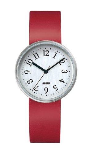 Alessi AL6012 - Reloj analógico automático unisex con correa de piel, color negro