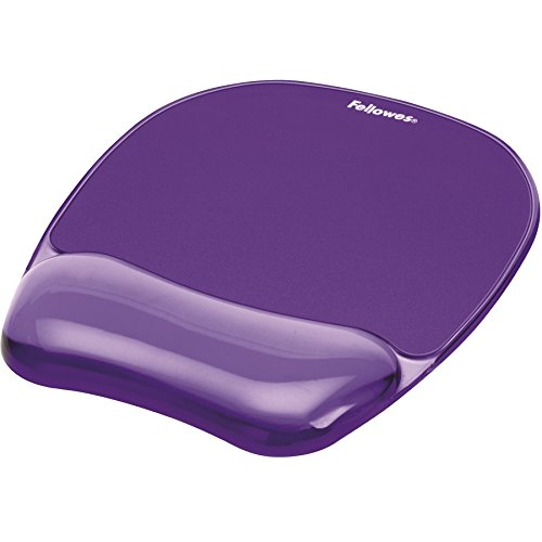 Gel Crystal Transparent Mousepad and Wrist Rest - Purple (Gel Wrist Mouse Pad compare prices)