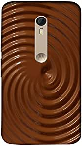 Timpax Protective Hard Back Case Cover Printed Design : Circles of choclates.Precisely Design For : Motorola Moto X-3 ( 3rd Gen )