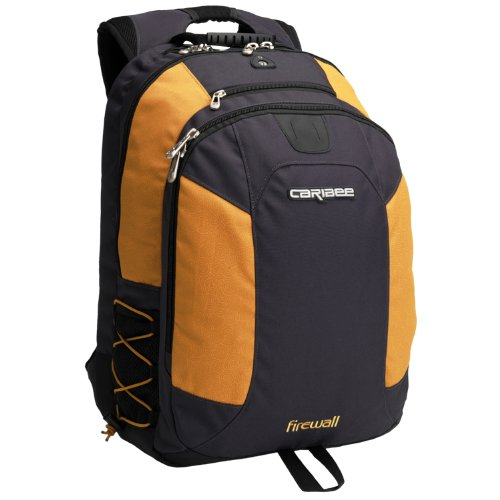 Firewall laptop backpack (sunflower/navy)