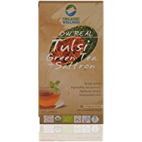 OW ' REAL Tulsi Green Tea & Saffron, 25 Tea Bags