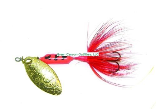 Wordens rooster tail lure 1 8 ounce chigger by big rock for Rooster tail fishing lure