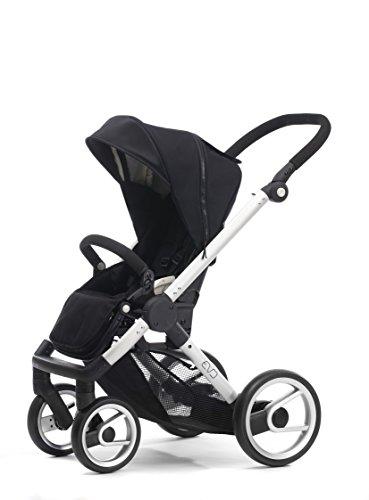 Mutsy Evo Stroller with Silver Frame, Black - 1