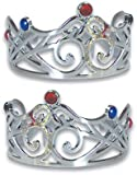 Renaissance King Queen Silver Costume Crown Tiara Hat
