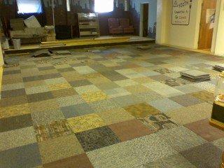 Commercial Carpet Tile - Random Assorted Colors