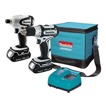 Factory-Reconditioned Makita LCT200W-R 18V Cordless Lithium-Ion 1/2 in. Compact Drill Driver and Impact Driver Combo Kit