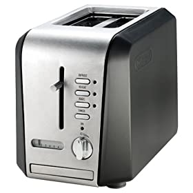 DeLonghi CTH2003B 2-Slice Metal Toaster