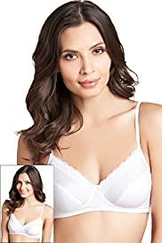 2 Pack Cotton Rich Non-Wired Non-Padded Bras