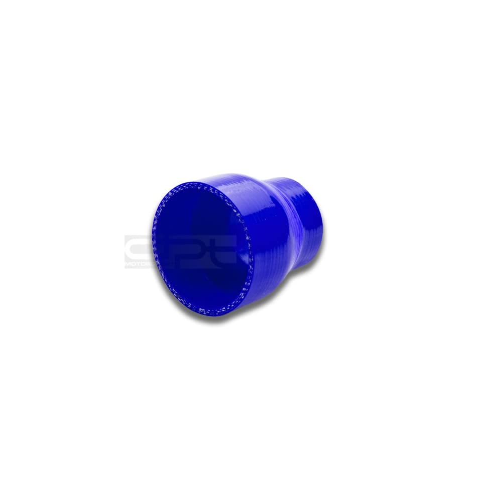 """DPT, SH 2 275 BL, 2"""" to 2.75"""" Straight Transition Reducer 3 Ply 4mm Thickness High Temperature Performance Blue Silicone Hose Coupler Connector for Turbo Exhaust Intake Intercooler Automotive"""