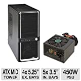 Diablotek Mid Tower Case w/ 450Watt ATX PSU Bundle
