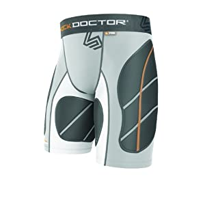 Shock Doctor Mens Ultra Padded Catchers Sliding Shorts by Shock Doctor