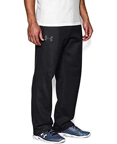 Under Armour Men's Rival Fleece Pants, Black/Graphite, Medium