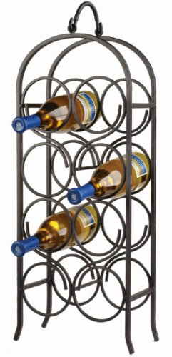 Oenophilia Cathedral Wine Arch, Black - 8 Bottle
